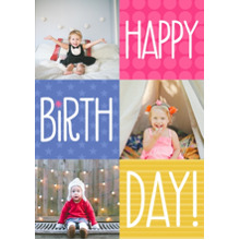 Birthday Party Invites 5x7 Cards, Standard Cardstock 85lb, Card & Stationery -Bright Color Box Birthday
