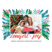 Christmas Photo Cards 5x7 Cards, Premium Cardstock 120lb with Rounded Corners, Card & Stationery -Comfort and Joy by Well Wishes