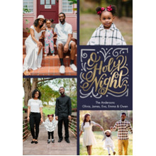 Christmas Photo Cards 5x7 Cards, Premium Cardstock 120lb with Rounded Corners, Card & Stationery -Christmas Holy Night