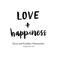 Non Photo Framed Canvas Print, Black, 16x20, Home Decor -Love Happiness