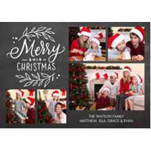 Christmas Photo Cards 5x7 Cards, Premium Cardstock 120lb with Elegant Corners, Card & Stationery -Christmas 2018 Gold Foliage by Tumbalina