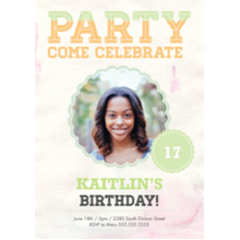 Birthday Party Invites 5x7 Cards, Premium Cardstock 120lb with Scalloped Corners, Card & Stationery -Teen Birthday Burst