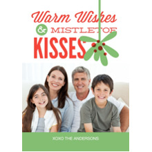 Christmas Photo Cards 5x7 Cards, Premium Cardstock 120lb with Rounded Corners, Card & Stationery -Mistletoe Kisses