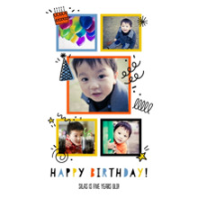 Birthday 20x30 Poster, Home Decor -Birthday Doodles