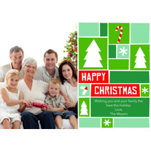 Christmas Photo Cards 5x7 Cards, Premium Cardstock 120lb with Elegant Corners, Card & Stationery -Happy Christmas