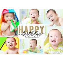 Birthday Greeting Cards 5x7 Folded Cards, Standard Cardstock 85lb, Card & Stationery -Birthday Gold Happy