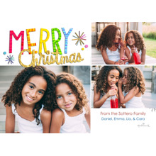 Christmas Photo Cards 5x7 Cards, Premium Cardstock 120lb with Elegant Corners, Card & Stationery -Colorful & Bright Christmas