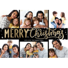 Christmas Photo Cards 5x7 Cards, Premium Cardstock 120lb with Scalloped Corners, Card & Stationery -Christmas Bold Merry by Tumbalina
