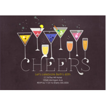 Birthday Party Invites 5x7 Cards, Premium Cardstock 120lb, Card & Stationery -Cheers