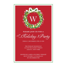 Christmas Party Invitations 5x7 Cards, Premium Cardstock 120lb, Card & Stationery -Holiday Party Monogram