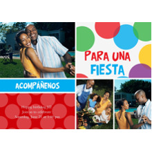 Birthday Party Invites 5x7 Cards, Standard Cardstock 85lb, Card & Stationery -Acomp????enos para una fiesta