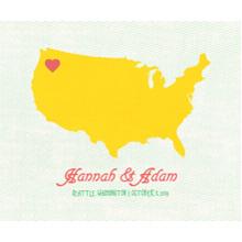 Love Plush Fleece Photo Blanket, 50x60, Gift -US Hometown Heart
