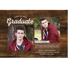 2019 Graduation Announcements 5x7 Cards, Premium Cardstock 120lb with Scalloped Corners, Card & Stationery -Class of 2019 Memories by Tumbalina