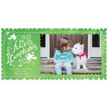 Birthday Party Invites 4x8 Flat Card Set, 85lb, Card & Stationery -Feliz Cumpleanos