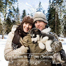 Christmas Photo Cards 5x5 Flat Card Set, 85lb, Card & Stationery -Wreath of Love