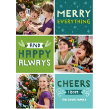 Christmas Photo Cards 5x7 Cards, Premium Cardstock 120lb with Elegant Corners, Card & Stationery -Happy Always