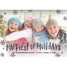 Christmas Photo Cards 5x7 Cards, Premium Cardstock 120lb with Elegant Corners, Card & Stationery -Happiest Of Holidays
