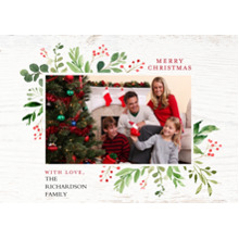 Christmas Photo Cards 5x7 Cards, Premium Cardstock 120lb with Elegant Corners, Card & Stationery -Christmas Festive Foliage