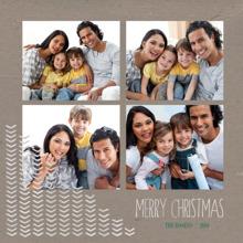 Christmas Photo Cards 5x5 Flat Card Set, 85lb, Card & Stationery -Christmas Chevron