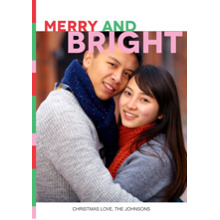 Christmas Photo Cards 5x7 Cards, Premium Cardstock 120lb with Elegant Corners, Card & Stationery -Words of Joy