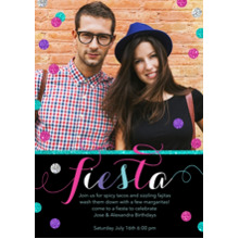 Birthday Party Invites 5x7 Cards, Premium Cardstock 120lb with Rounded Corners, Card & Stationery -Fiesta Confetti by Posh Paper