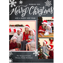 Christmas Photo Cards 5x7 Cards, Premium Cardstock 120lb with Rounded Corners, Card & Stationery -Christmas Snowflakes Collage by Tumbalina
