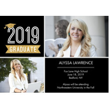 2019 Graduation Announcements 5x7 Cards, Premium Cardstock 120lb with Elegant Corners, Card & Stationery -Graduation 2019 Cap by Tumbalina