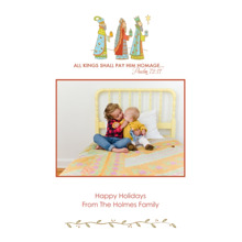 Christmas Photo Cards 5x7 Cards, Premium Cardstock 120lb with Elegant Corners, Card & Stationery -Traveling Kings