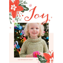 Christmas Photo Cards 5x7 Cards, Premium Cardstock 120lb with Scalloped Corners, Card & Stationery -Christmas Garland