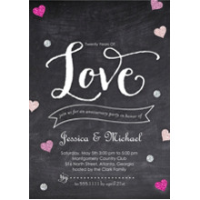 Anniversary Invitations 5x7 Cards, Premium Cardstock 120lb with Rounded Corners, Card & Stationery -Years of Love by Posh Paper