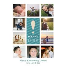 Birthday Greeting Cards 5x7 Folded Cards, Premium Cardstock 120lb, Card & Stationery -Birthday Blocks