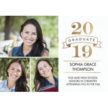 2019 Graduation Announcements 5x7 Cards, Premium Cardstock 120lb with Scalloped Corners, Card & Stationery -2019 Graduate Banner by Tumbalina