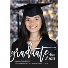 2019 Graduation Announcements 5x7 Cards, Premium Cardstock 120lb with Rounded Corners, Card & Stationery -Graduate 2019 Handwritten by Tumbalina