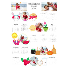 Calendar 11x14 Poster, Home Decor -Joy Emoji