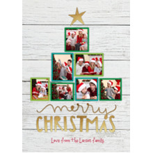 Christmas Photo Cards 5x7 Cards, Premium Cardstock 120lb with Elegant Corners, Card & Stationery -Tree of Cheer