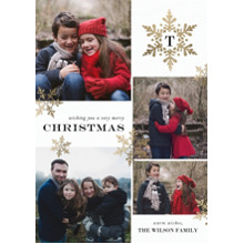 Christmas Photo Cards 5x7 Cards, Premium Cardstock 120lb with Elegant Corners, Card & Stationery -Christmas Initial Snowflake