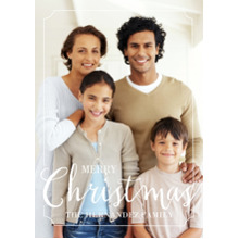 Christmas Photo Cards 5x7 Cards, Premium Cardstock 120lb with Scalloped Corners, Card & Stationery -Christmas Framed Cheer