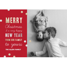Christmas Photo Cards 5x7 Cards, Premium Cardstock 120lb with Scalloped Corners, Card & Stationery -Christmas Confetti