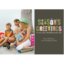 Christmas Photo Cards 5x7 Cards, Premium Cardstock 120lb with Rounded Corners, Card & Stationery -Excitement of the Season