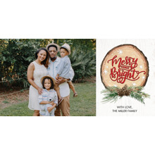 Christmas Photo Cards 4x8 Flat Card Set, 85lb, Card & Stationery -Christmas Wood Plaque Collage by Tumbalina