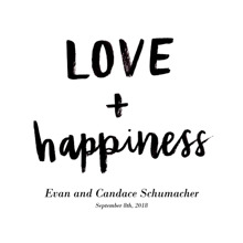 Non Photo Framed Canvas Print, Black, 12x12, Home Decor -Love Happiness