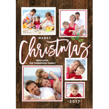 Christmas Photo Cards 5x7 Cards, Premium Cardstock 120lb with Elegant Corners, Card & Stationery -Christmas Gold Handwritten