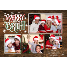 Christmas Photo Cards 5x7 Cards, Premium Cardstock 120lb with Scalloped Corners, Card & Stationery -Christmas Merry & Bright Memories by Tumbalina