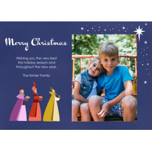 Christmas Photo Cards 5x7 Cards, Premium Cardstock 120lb with Rounded Corners, Card & Stationery -Majestic Kings