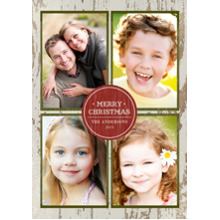 Christmas Photo Cards 5x7 Cards, Premium Cardstock 120lb with Elegant Corners, Card & Stationery -Rustic Merry Christmas