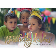 Birthday Greeting Cards 5x7 Folded Cards, Standard Cardstock 85lb, Card & Stationery -Birthday Wishes