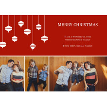 Christmas Photo Cards 5x7 Cards, Premium Cardstock 120lb with Elegant Corners, Card & Stationery -Abundant Ornaments