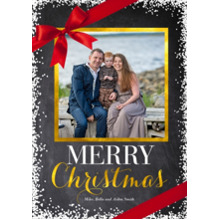 Christmas Photo Cards 5x7 Cards, Premium Cardstock 120lb with Elegant Corners, Card & Stationery -Snowy Ribbon