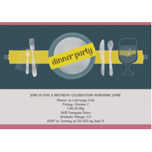 Birthday Party Invites 5x7 Cards, Premium Cardstock 120lb with Elegant Corners, Card & Stationery -Birthday Dinner Party