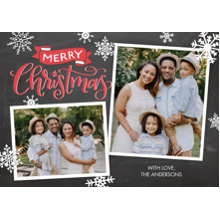 Christmas Photo Cards 5x7 Cards, Premium Cardstock 120lb with Elegant Corners, Card & Stationery -Christmas Banner by Tumbalina